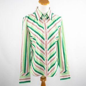 Tommy Hilfiger blouse light green and pink (M)